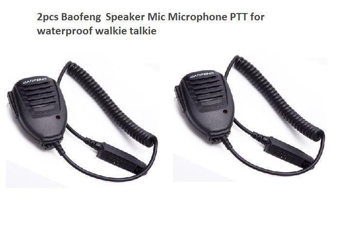 Altifalante impermeável 2pcs portátil microfone para BAOFENG UV-9R mais Walkietalkie PPT microfone Fung BF-A58 uv9R mais BF-9700