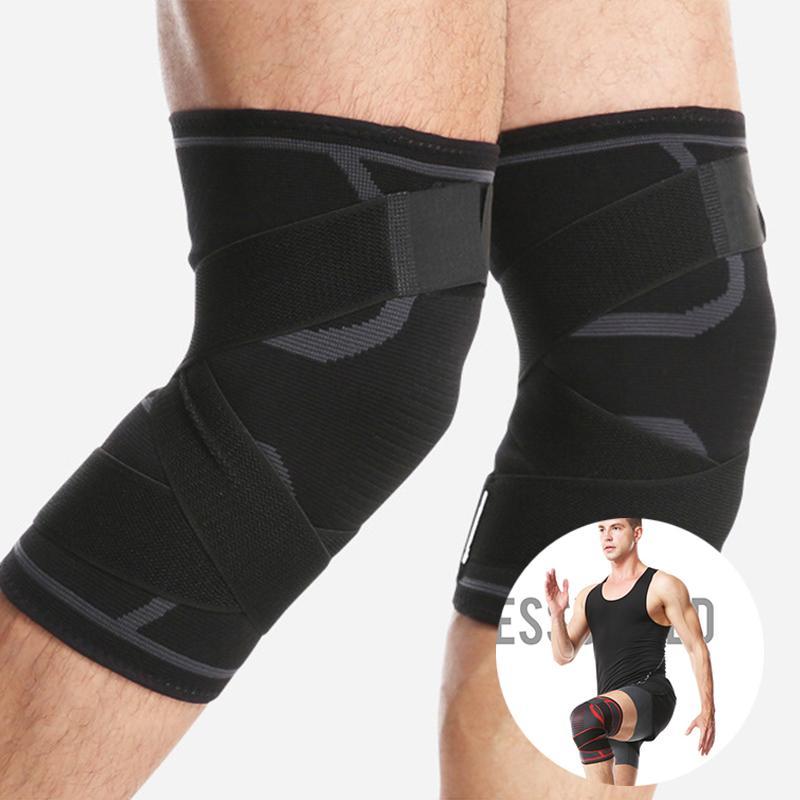 2020 heiße Kniestütze Fitness Laufen Knieschützer Zahnspange elastischen Nylon Bandage Pressurized Schutz Volleyball Sport Kneepad