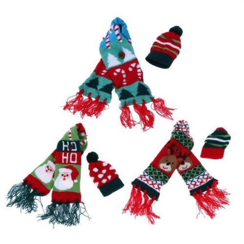 Vinho do Natal Garrafa Covers Partido Tabela Papai Noel Decor Xmas Enrole Top Hat Scarf presente