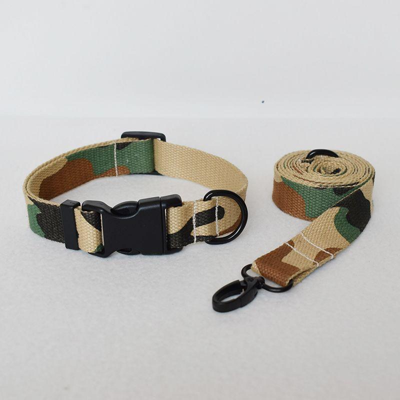 collare di cane camuffamento giallo e guinzaglio per cani personalizzati Collari inciso Targa pet collana su misura