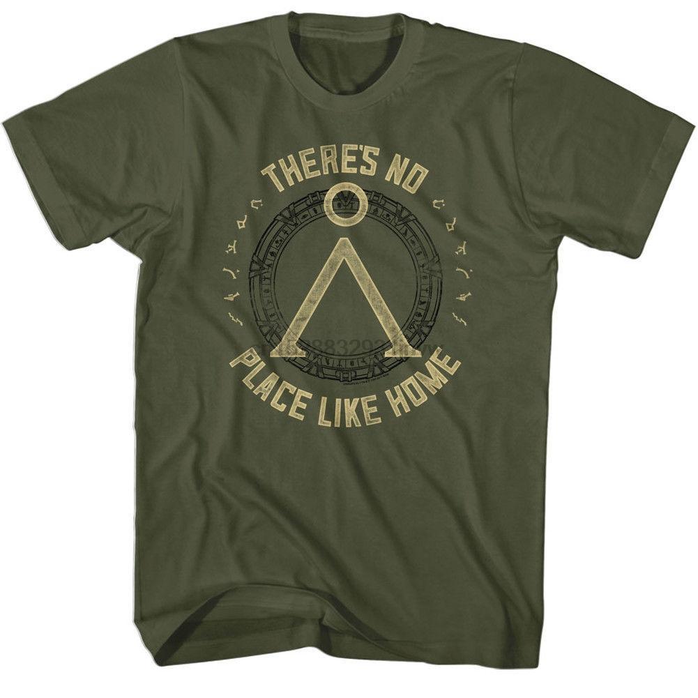 Stargate Sg 1 No Place Like Home Yetişkin Tişörtlü Casual gurur t gömlek erkekler Soğuk Lisanslı Unisex Yeni Moda ücretsiz gönderim tişört (1)