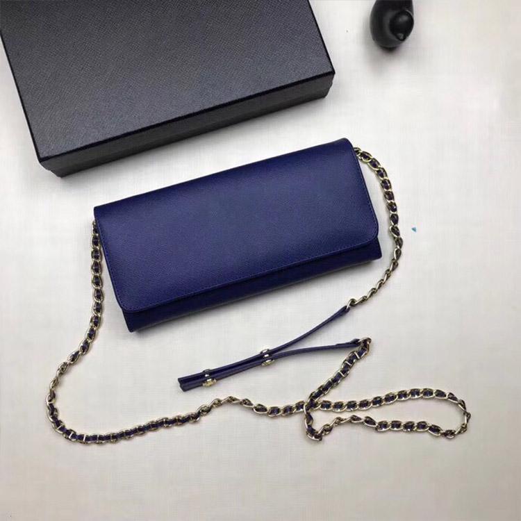 mulheres designer de carteira de luxo bolsas bolsas de couro real de longo PORTEFEUILLE alta qualidade saco de Cadeia alça estilo clássico saco da senhora Crossbody