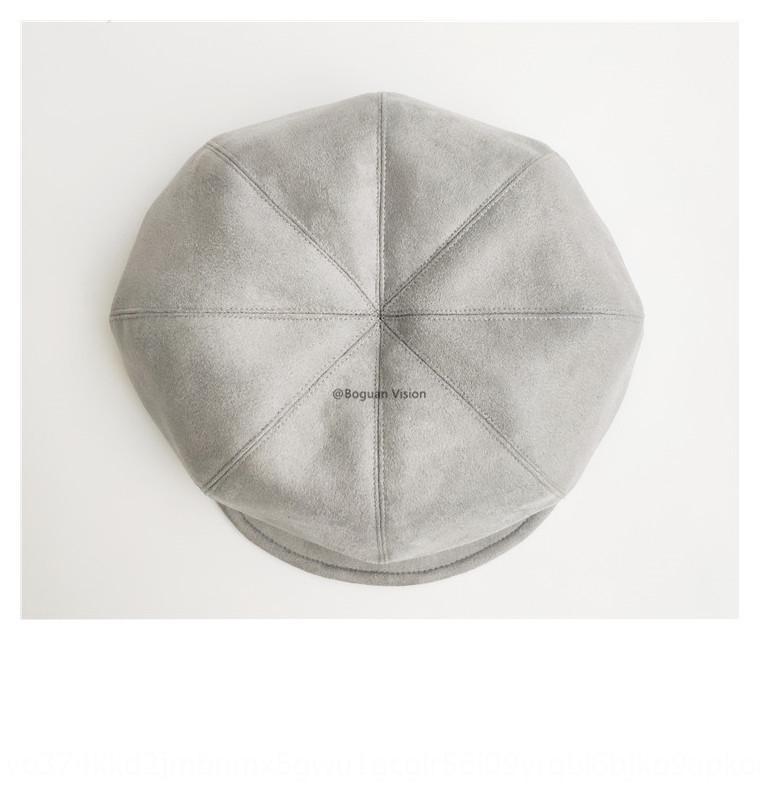 4Wpd3 Suede otto pezzo cappello strillone nera scamosciata circonferenza di otto pezzi stile Grey giapponese tutto-fiammifero strillone berei autunno e l'inverno