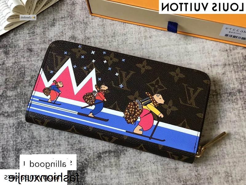 VTI6 dos desenhos animados Zippy zipper M63379 MULHERES REAIS DE COURO LONGO carteira cartão corrente CARTEIRAS COMPACT BOLSA Evening Embreagens CHAVE