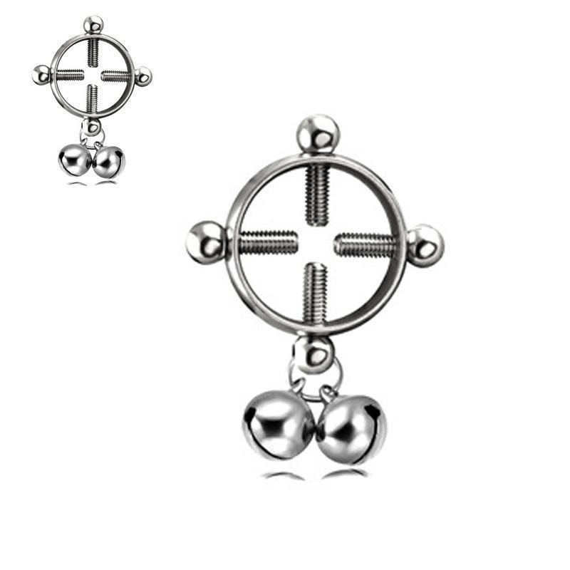 Um frete grátis Sem Perfuração ajustável de aço inoxidável de Bell Puncture jóias clipe Anel Epoxy Leite Anel