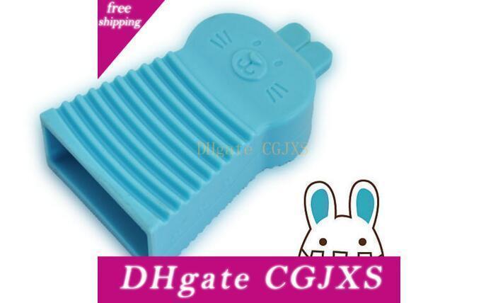 Süßigkeit-Farben-PVC-Wäsche Pinsel Hausarbeit Werkzeug Minihand Washboard nette Kaninchen-Kleiderbürste Reinigungsausrüstung