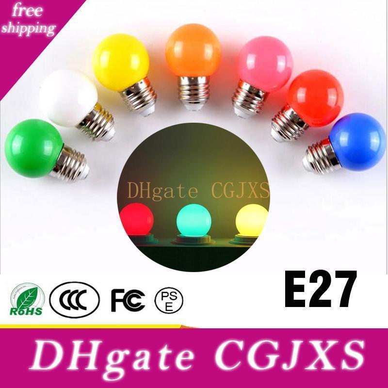 Colorful Globe Light Bulb E27 Led Bar Light White Red Blue Green Yellow Orange Pink Lamp Light Smd 2835 Home Decor Lighting 110v