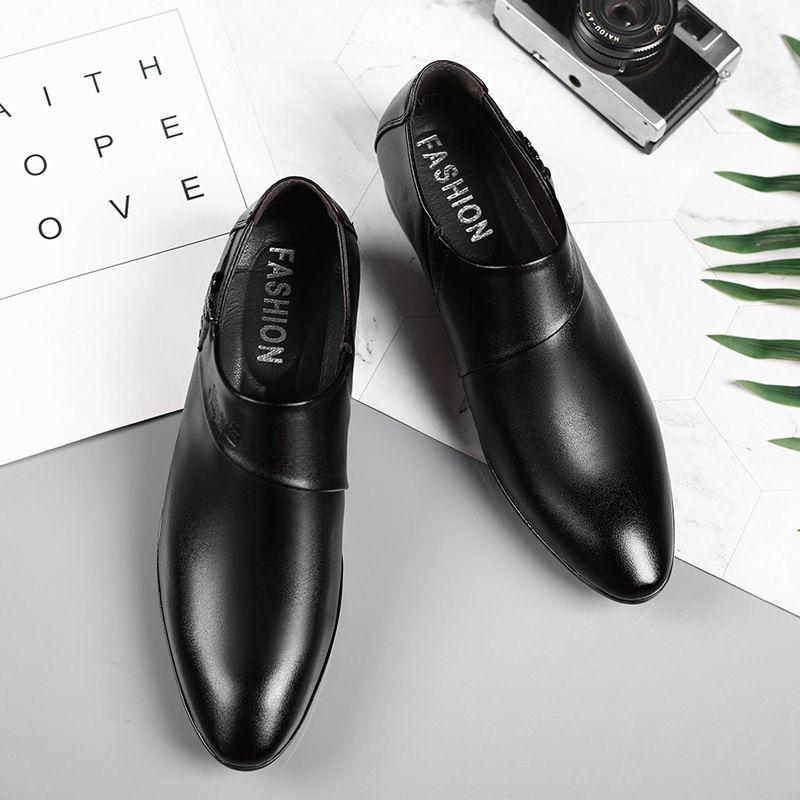 Para hombre zapatos de boda de lujo de cuero zapatos elegantes zapatos de vestir para hombre del negocio para los hombres 2020 Zapatos Plateado Hombre Schoenen Mannen