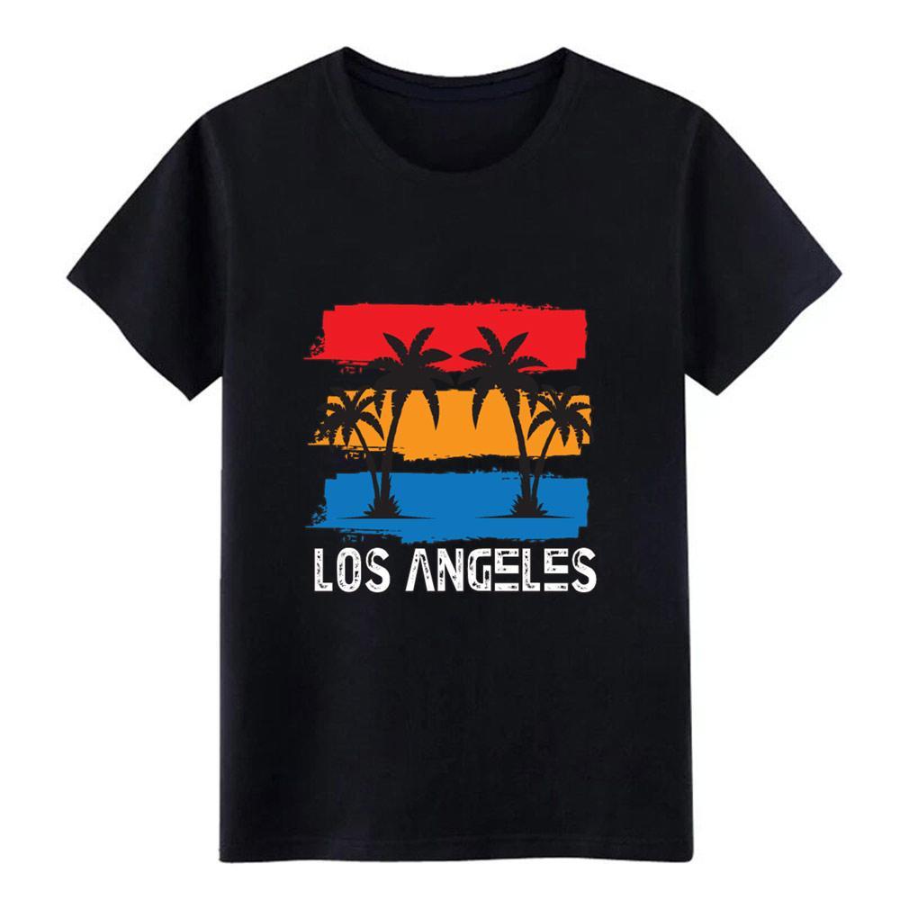 Los Angeles Strand T-Shirt Männer gedruckt T-Shirt mit Rundhalsausschnitt Outfit Fit New Fashion Frühling Kawaii Hemd