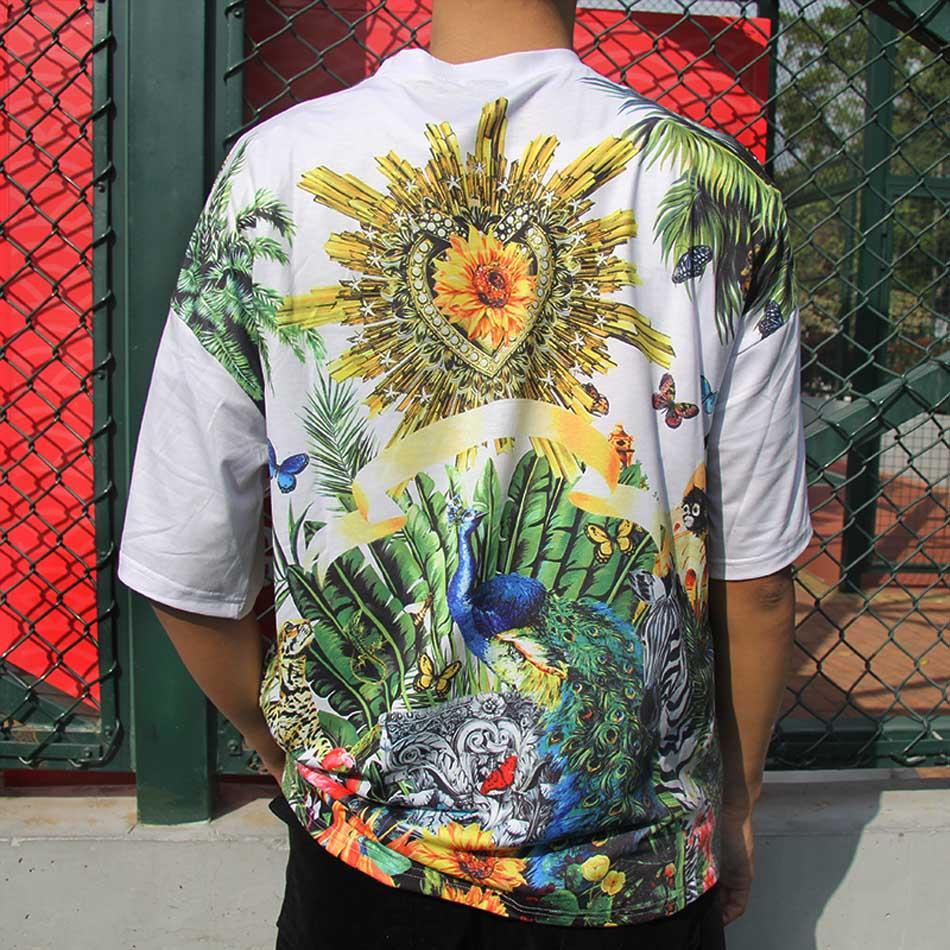 moda gömlekli Erkek yaz tişört dalgalı harfi klasik moda bayan elbiseleri erkekler rahat kısa kollu büyük boy basılmış