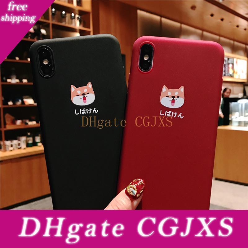 Telefon-Kasten für Iphone 6 6s 7 8 Plus X Xr Xs Max Art und Weise nette Karikatur Shiba Inu Hunde weiche TPU für Iphone X Telefon-Kasten Taschen