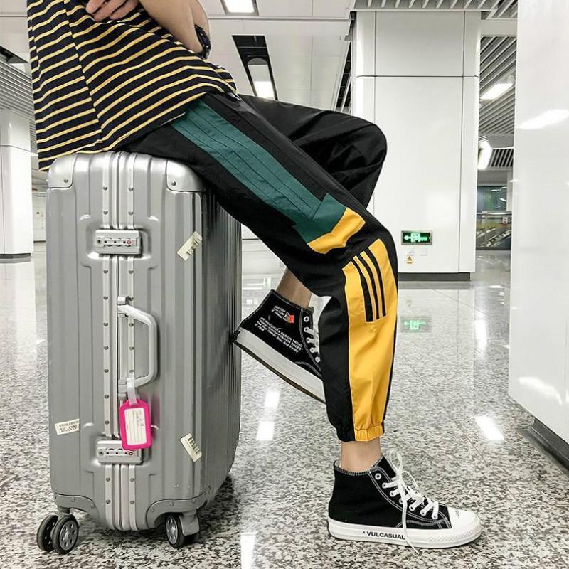 Mens New Pants avec lambrissé motif Neuf Pantalon Sport Drawstring Casual Points Sweatpants Mode Hiphop Joggers Taille asiatique M-4XL
