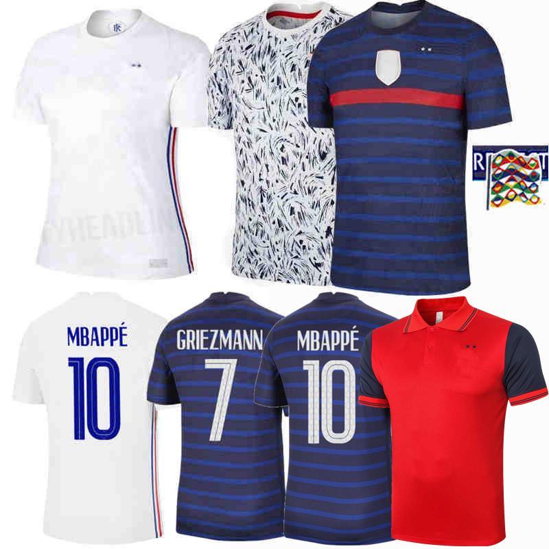 France 20 21 MBAPPE GRIEZMANN POGBA jerseys 2019 2020 2021 Soccer jersey Football shirts Polo men and kids training kit 4XL