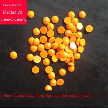 DIY boyama reçine 2.8mm Rubik küp Diy Rubik küpü yuvarlak elmas 447 renkli düz dipli Elmas için p65HC Özel