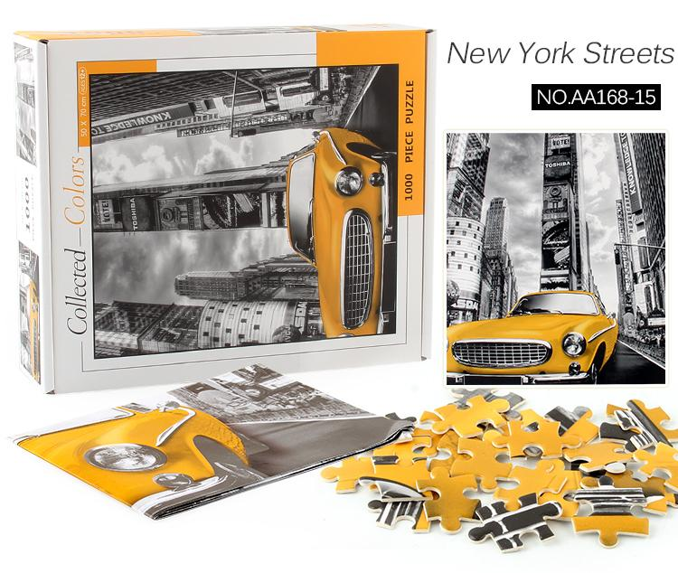 yetişkin gençlik bulmaca blokları 1000 bulmaca sınır ötesi kaynaklar kağıdı New York sokak dekompresyon oyuncaklar kalınlaşmış
