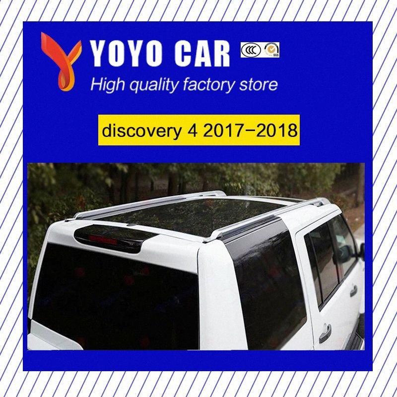 venta caliente de color plata tornillo de instalación de lado de aleación baca barra de perfil de aluminio para el descubrimiento 4 2017 2018 X4g6 #