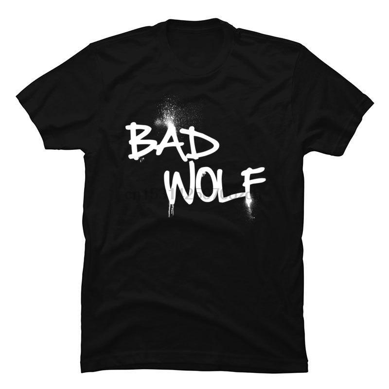 Bad Wolf Brief Schwarz Tops T-Shirt Doctor Who All Cotton Familie Tops Shirts nagelneuen Männer-T-Shirts Camisa Frauen Männer Unisex-T-Shirts