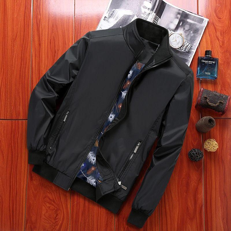 el otoño y el tamaño de la empresa Europea de invierno de la chaqueta de la chaqueta nueva capa suelta 2019 revestimiento de encolado grandes hombres casuales ExuGc