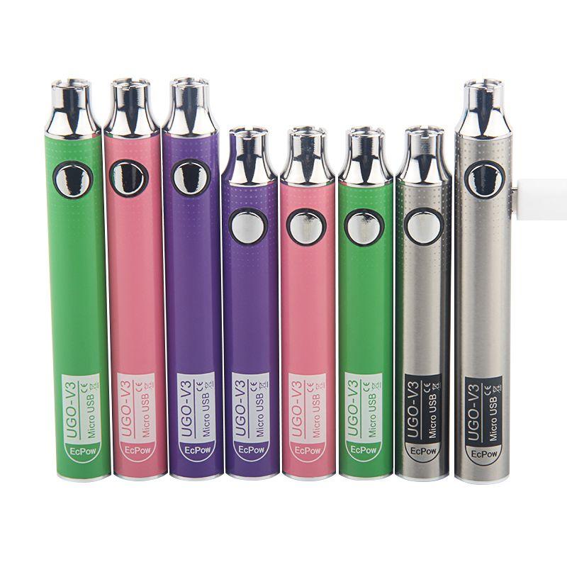 Original UGO V III V3 650 900mAh EVOD Ego 510 Battery micro USB Charge vape batteries Preaheat Adjustable Voltage UGO V3
