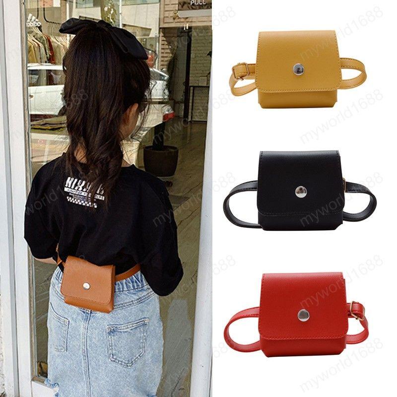 Crianças bolsa de carteira bolsa 2020 bonito preto bloco pequeno pack cintura menino menina fanny bolsa caixa caixa de tortas cinto cintura para bebê couro crianças ndmwm