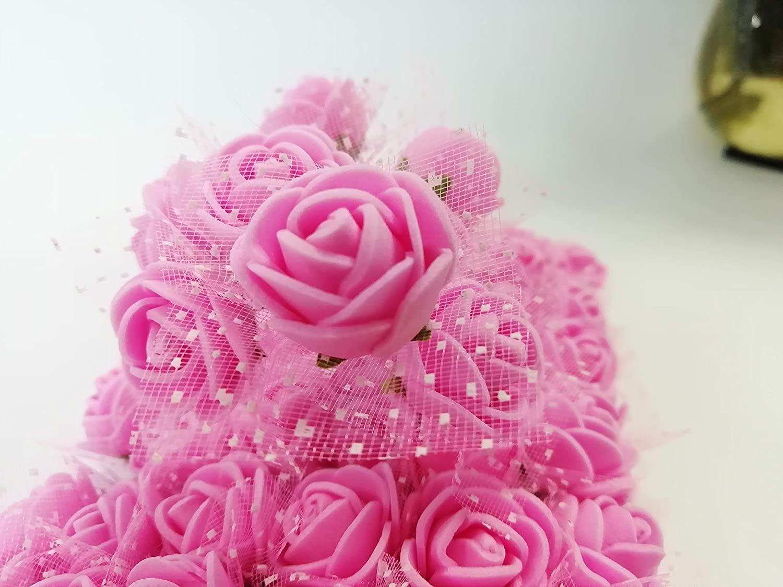 144pcs Yapay Çiçek Mini Köpük Gül Başkanı DIY Tatil Dekorasyon El yapımı Küçük Resim Sahte Çiçek Düğün Ev Partisi Çelenk Hediye Kutusu decorat
