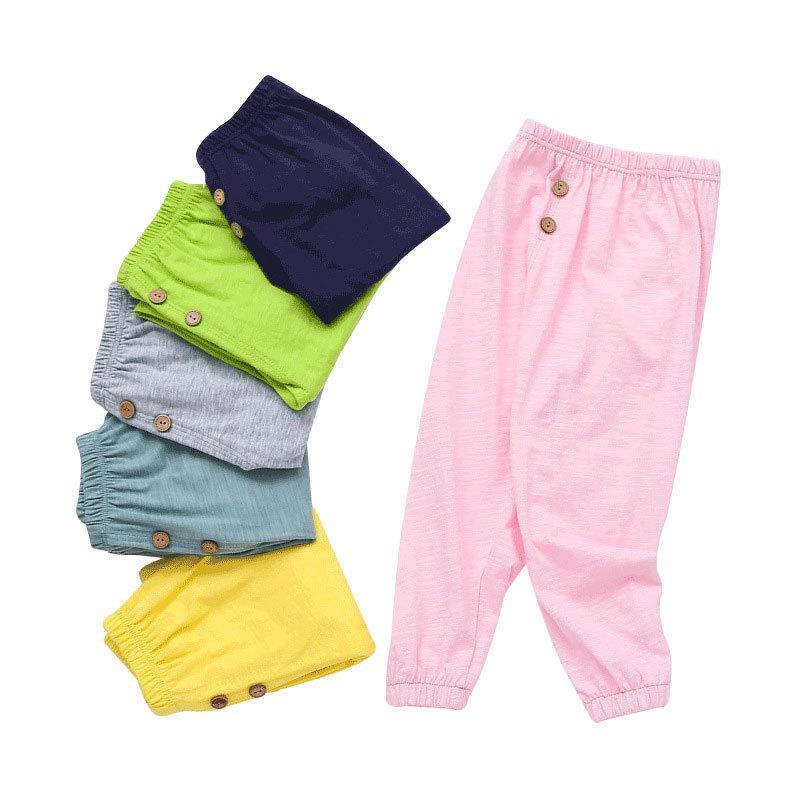 Katı Renk Çocuk Giyim Kız Tozluklar Moda Çocuk Giyim Boys Pantolon Pamuk Bebek Boys Pantolon Yaz Bebek Giyim C0922