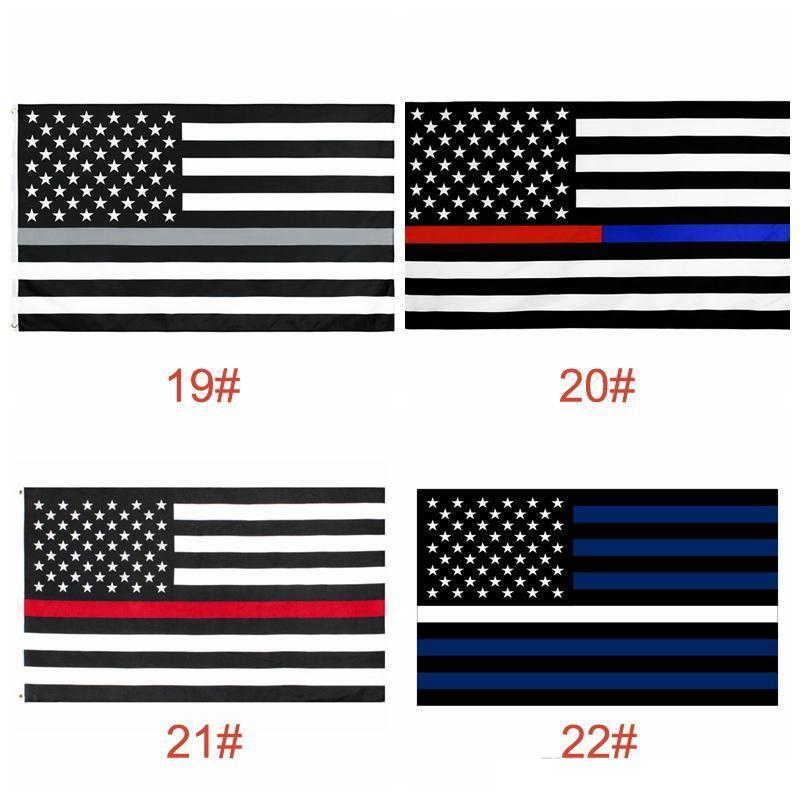 USA-Flaggen US Army Banner Airforce Marine Corp Marine Besty Ross-Flagge treten nicht auf mir Flaggen Thin xxx-Linie Flag LJJA903