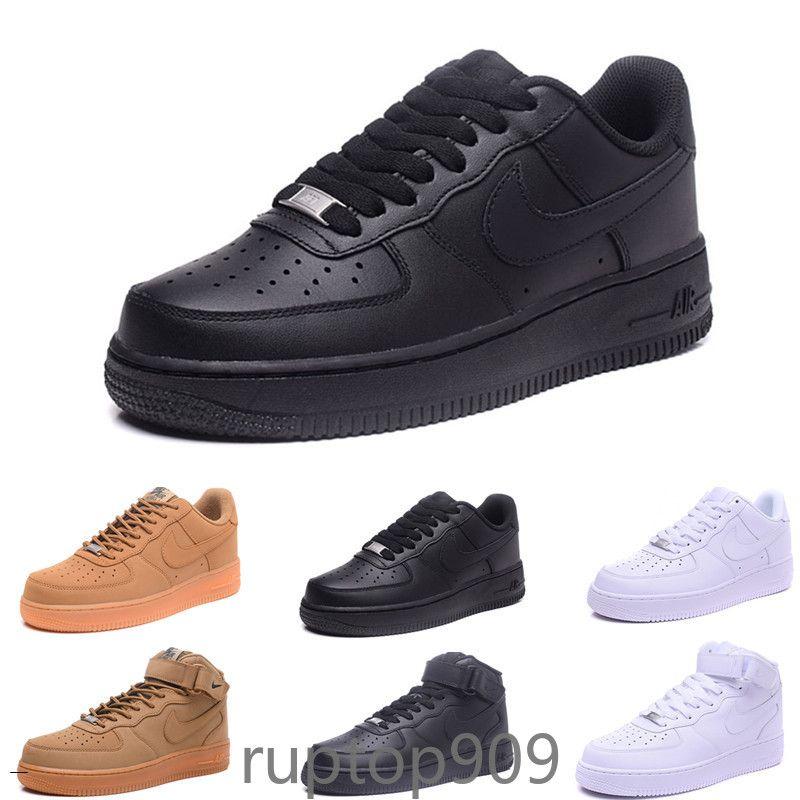 Nike Air Force 1 One Af1 volar de alta calidad clásicos de hombres mujeres unisex zapatos bajos para mujer para hombre Casual uno 1 White sandalias de la plataforma estrella de