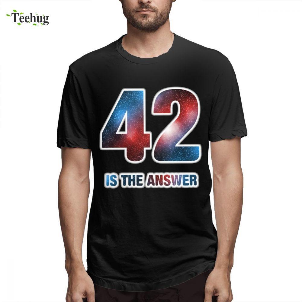 42 è la risposta Solo T Shirt cotone puro Vita Guida galattica per autostoppisti Abbigliamento girocollo per l'uomo popolare personalizzato: Uomo