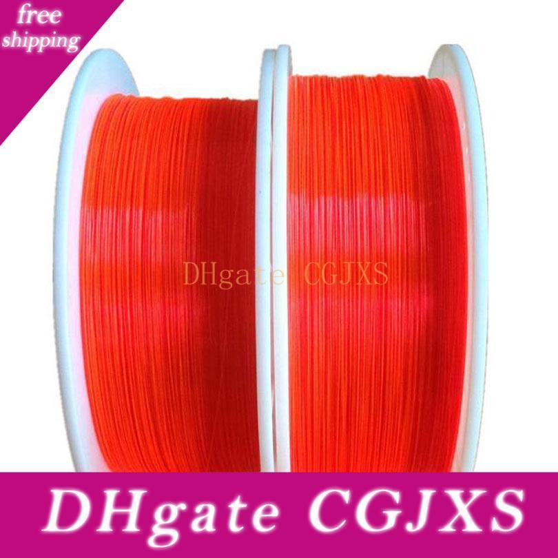 1 .5mm Fluorescent Fiber Optic Cable Red Orange Green Neon Pmma Fiber Optic For Gun Sight Lighting Decorations X 5m