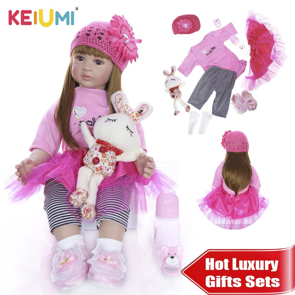 KEIUMI 43cm Silicone Reborn Baby Doll Kids Playmate Gift For Girl DIY Toy