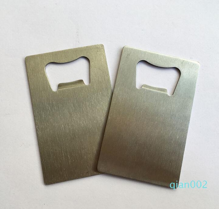 Botella de acero inoxidable de DHL plaza de la tarjeta de crédito la botella de cerveza abridor de la tarjeta de visita del metal Herramientas de la barra del abrelatas de cocina nt