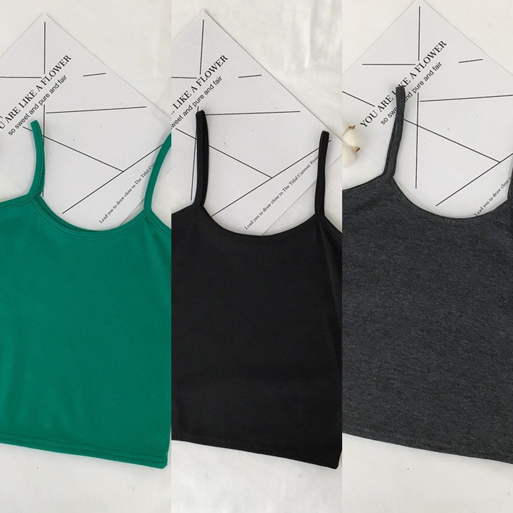 2020 estate nuovo stile coreano canotta giubbotto bottoming sottile versatile filetto corto piccola bretella giubbotto per le donne