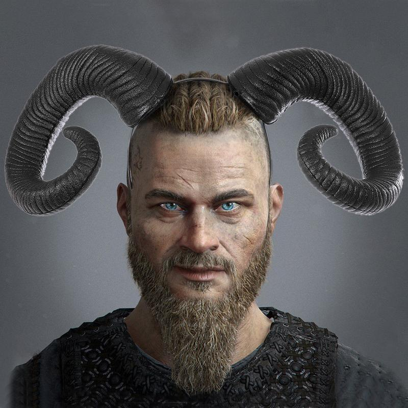 Koyun boynuzu Gotik kafa bandı Dagong, kadınlar ve erkekler için kişiselleştirilmiş Steampunk koyun boynuz saç bandı, Cosplay Cadılar Bayramı partisi aksesuarları,