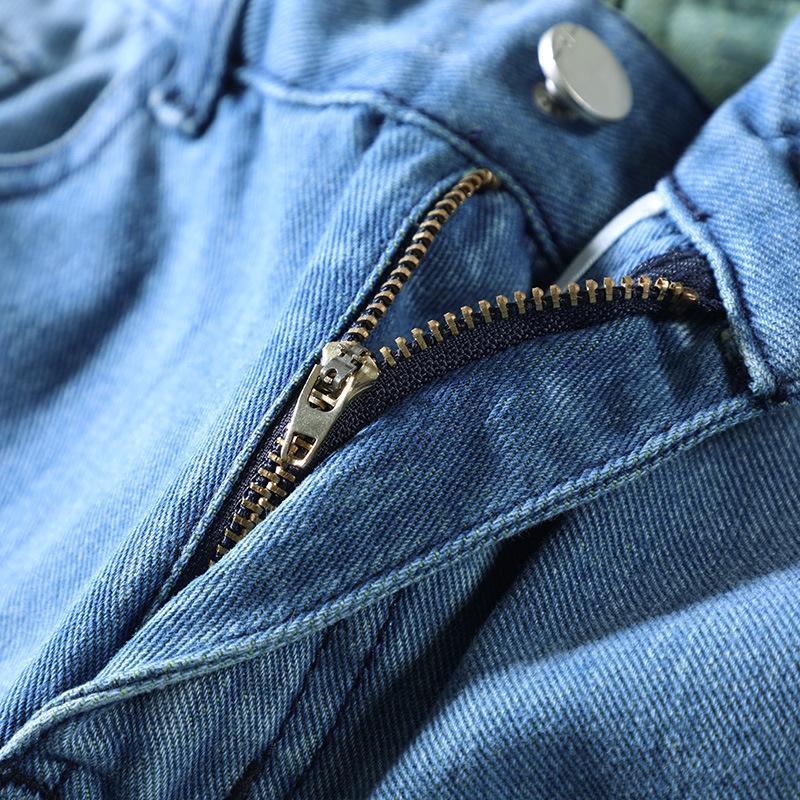 de los hombres 97Efy tobillos MxzNn nueve nueve bicicletas recortada arrancó el verano de 2020 nuevas de cintura alta pantalones cortos de mezclilla ajustado celebridad de Internet pantalón de ciclismo