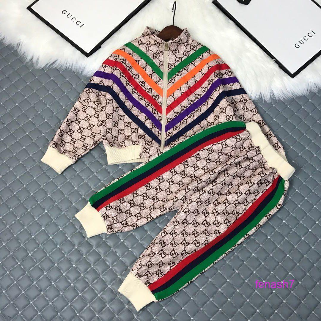 New spring Boys' girls casual fashion print long sleeve high quality trend set