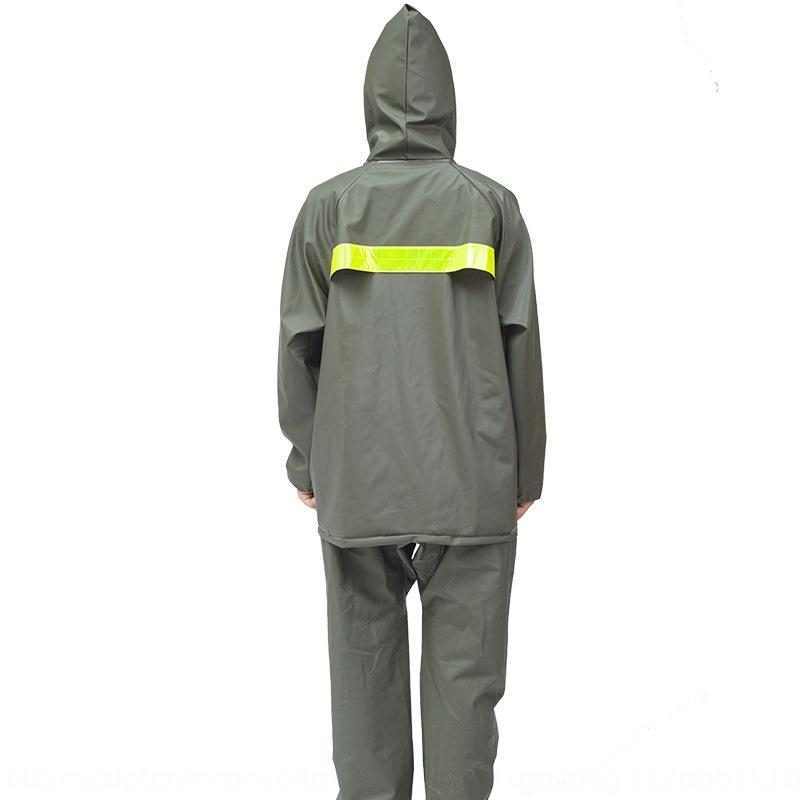 J1CCE bez yağmurluk Örme kumaş örme kumaş ordu takım yeşil nefes yağmurluk ve yağmur bölünmüş pantolon takım elbise kalınlaşmış