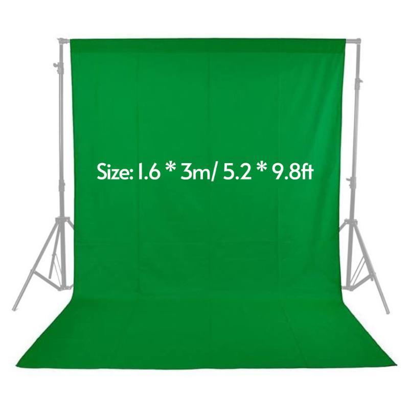 1.8x2.7m Green Screen Foto Background Fotografie Kulissen waschbare Vlies Schwarz Weiß Grün für Fotografie Studio