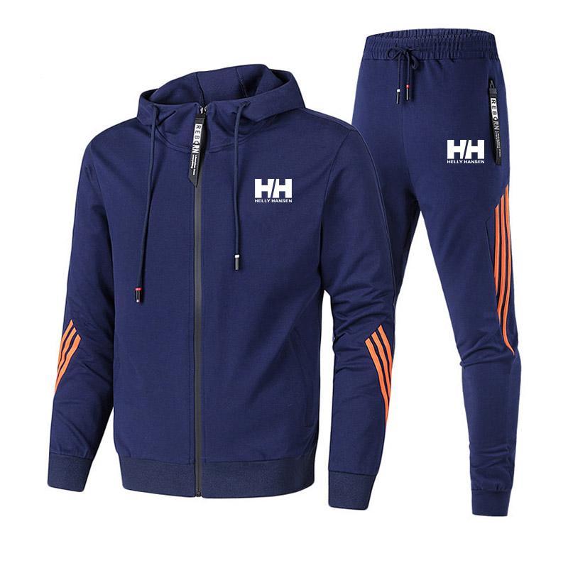 Designer Mens Tracksuit Homens Zipper Tracksuit Moda Lado Listrado Hoodies Hoodies Jacket Calças Faixas Ternos Homens Casual 2 Peças Suatuit