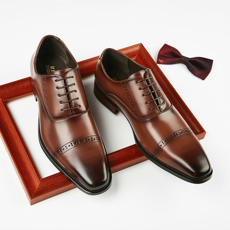 2020 новая кожа вырезаны бизнес кожаные ботинки мужские формальные джентльмен обувь мужчины платье обувь
