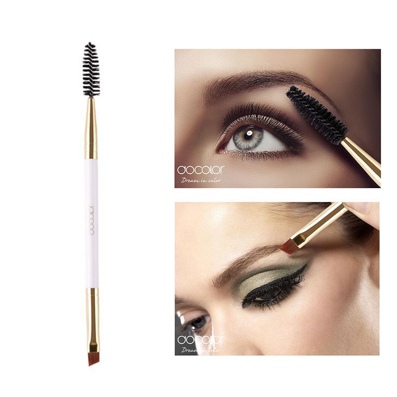 Docolor 2 en 1 pinceaux de maquillage pour les yeux Brow brosse à sourcils Sourcils peigne Beauté Pinceau professionnel Blending Eye