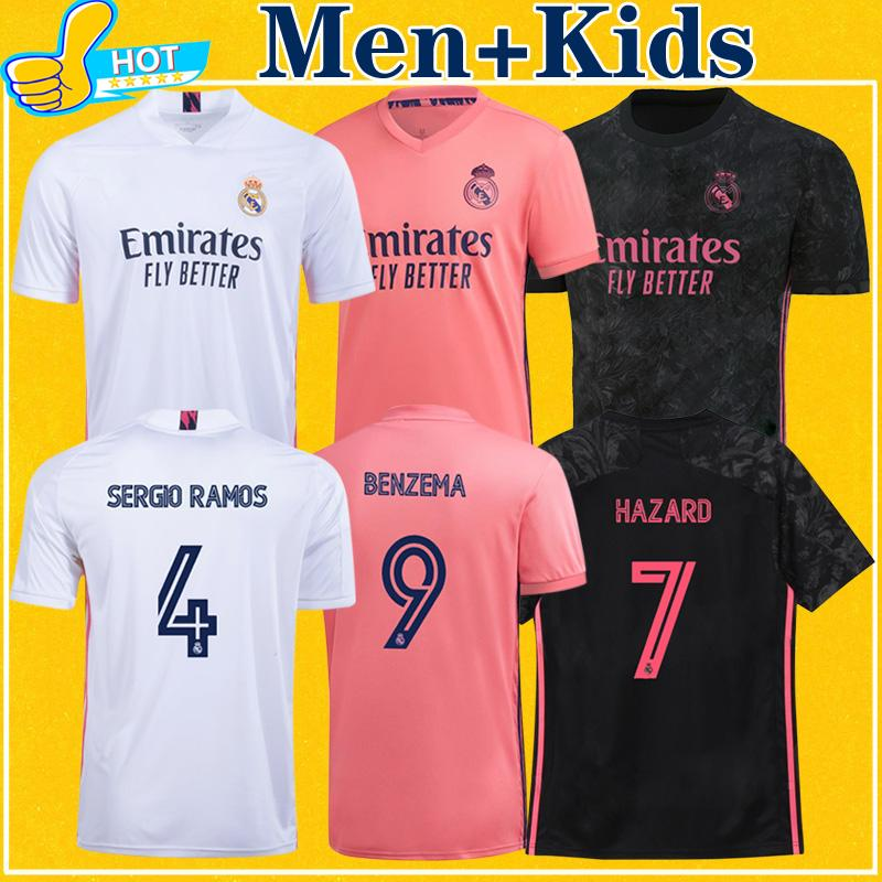 camiseta ريال مدريد الاطفال الرجال 2021 لكرة القدم جيرسي مدريد أخطار SERGIO RAMOS BENZEMA مايوه دي القدم TOP الجودة قميص 20 21 لكرة القدم