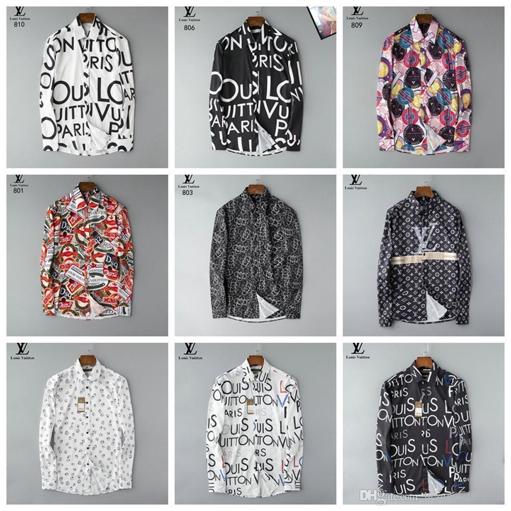 Luxe Mens Designer Chemisier firmate robe d'affaires Mode Chemises maillots de basket-ball Marque Casual Shirt coupe-vent 132