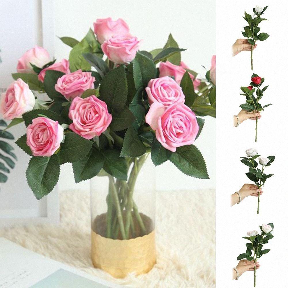 1pc artificielle Rose fleur double-tête de mariage de jardin Arrangement Party Hot Décor UNC1 #