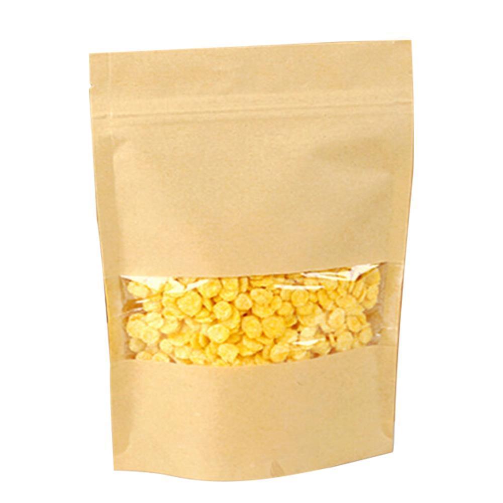 50pcs saco de compras de exibição Package Limpar Partido reciclável Papel Resealable janela Armazenamento prático garden2010 FBNet