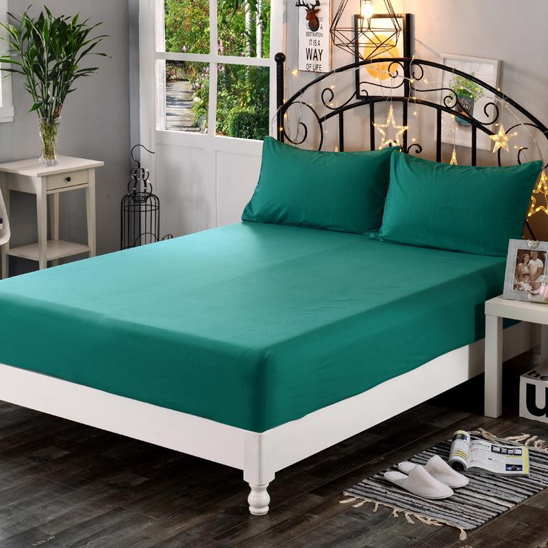 Modern and Simple Pure Color Bed Sheet 1.8m Bedspread Bed Non-slip and Stain Resistant Protective Cover Bed Sheet Set