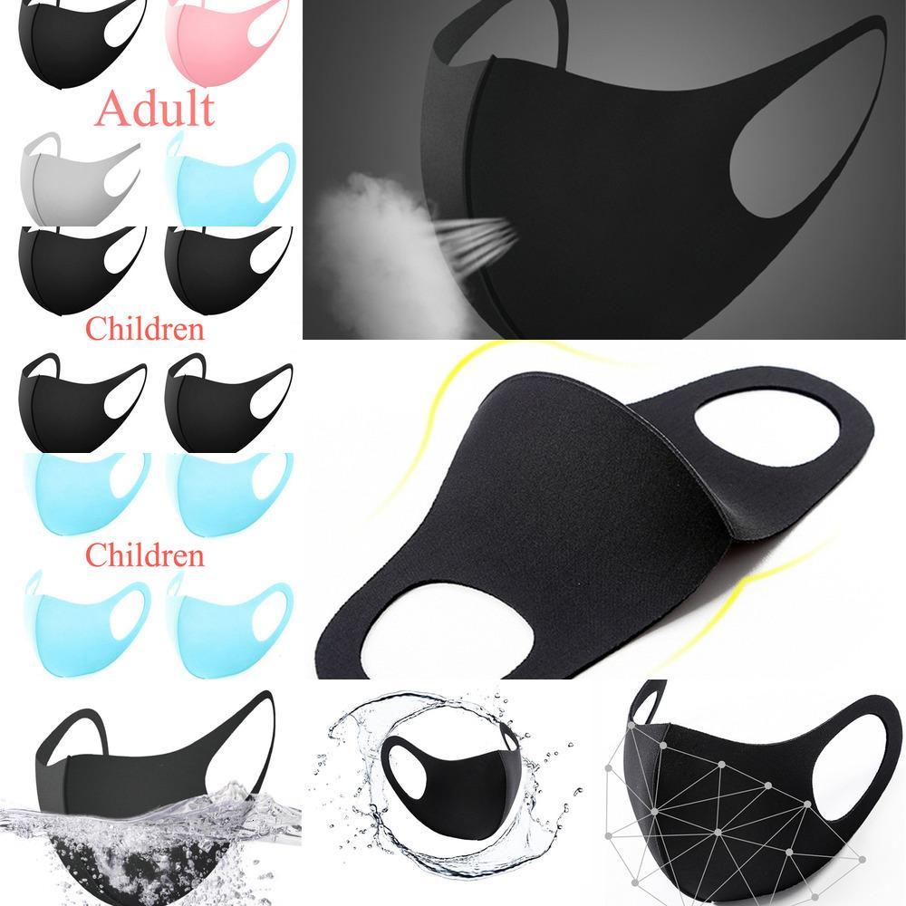 Silk Ice Máscara Tampa Anti Poeira PM2.5 Respirador Dustproof lavável reutilizável Preto Algodão Adulto Kid cara MaEE79