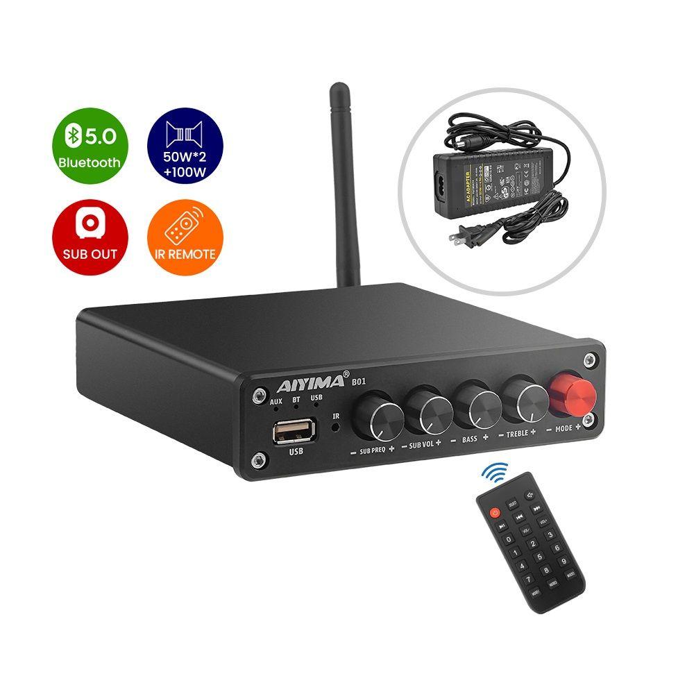 Stereo amplificazione del suono Freeshipping Bluetooth Subwoofer Amplificatori Hi-Fi Digital Amp USB Player 2.1 canali telecomando