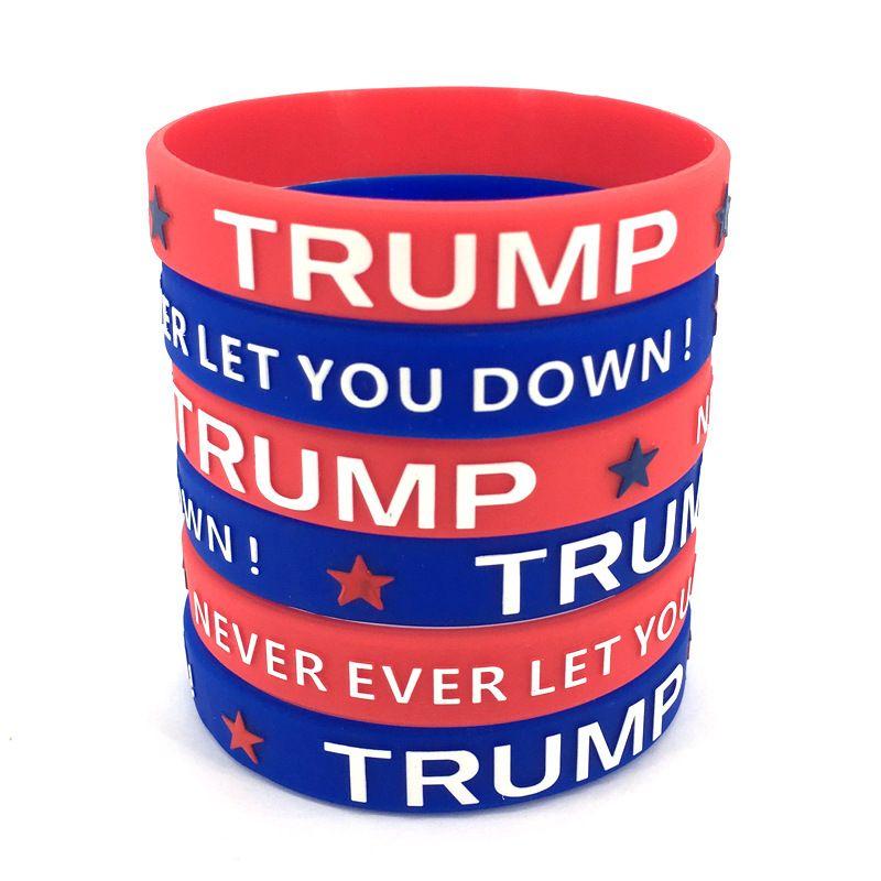 Trump tornar a América Great Again Silicone pulseira de borracha impermeável Sport Suporte Wrist Band Trump Donald Bangle Personalizado Pulseira CY BH2123