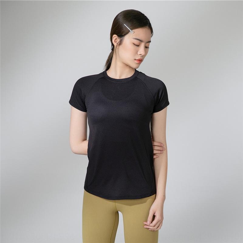 GEphY Ejecución de secado rápido de manga corta de la nueva ropa de yoga suelta y cómoda ropa transpirable de las mujeres camiseta de la ropa de yoga deportivo T-shi